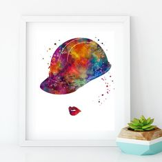 Civil Engineer Graduation Gift for Women Watercolor Print Room Wall Art, Office Decor Ing Civil, Law Office Decor, Civil Engineering, Engineering Girls, Chemical Engineering, Architecture Wallpaper, Free Prints, Texture Art, Watercolor Print