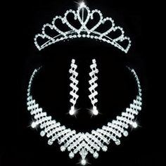 Accessori sposa set corona collana orecchini