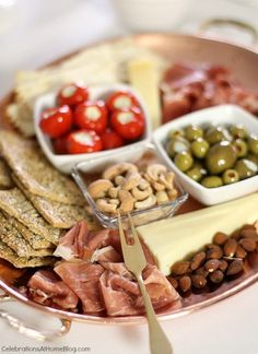 How to host an easy cocktail party. Charcuterie platter