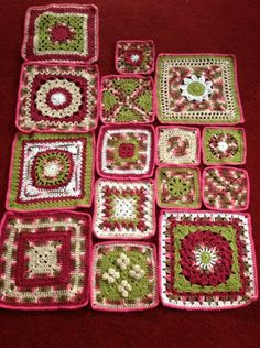 Its a throw with 57 blocks, 12 inch 8 inch and 6 inch blocks, this is my progress so far...... I think it looks like a rose garden. the patterns can be found here..one a week. http://spincushions.com/2012/10/