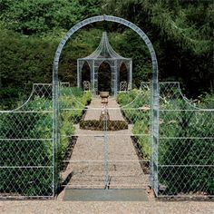 Garden Trellis Panels Metal garden trellis made from zinc galvanized wirework. Trellis panels for pr Metal Trellis Panels, Garden Trellis Panels, Trellis Gate, Fence Panels, Garden Arches, Garden Gazebo, Door Canopy Designs, Small Gazebo, Pergola Images