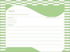 Plantilla Excel recetas cocina