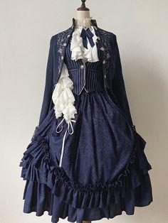 Kawaii Dress, Kawaii Clothes, Old Fashion Dresses, Fashion Outfits, Lolita Gothic, Pretty Dresses, Beautiful Dresses, Vintage Dresses, Vintage Outfits