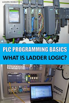 Ladder Logic is a popular Industrial Programming Language. In this article, we'll show you how to get started with PLC's and some common Ladder Logic programs. Control Engineering, Electronic Engineering, Electrical Engineering, Electrical Wiring, Computer Robot, Computer Science, Science And Technology, Medical Technology, Energy Technology