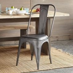 Ordinaire FOUNDRY SIDE CHAIR    These Comfortable Metal Side Chairs Just Beg For A  Gathering Of Friends And Family. Theyu0027ll Fit As Easily In A Bistro Setting  As A ...