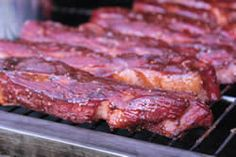 Smoked pork country style ribs with cherry Dr. Pepper!