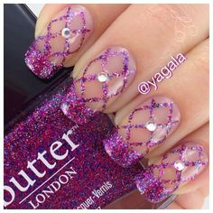 ideas for pedicure purple glitter nail art designs Purple Nail Art, Purple Nail Designs, Beautiful Nail Designs, Glitter Nail Art, Nail Art Designs, Purple Glitter, Fabulous Nails, Gorgeous Nails, Pretty Nails
