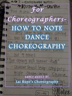 choreography notes This article will help you learn how to better note your dance choreography to help you become a better teacher and instructor as well. Worship Dance, Praise Dance, Teach Dance, Learn To Dance, How To Dance Better, Dance Tips, Dance Lessons, Ex Libris, Dance Technique