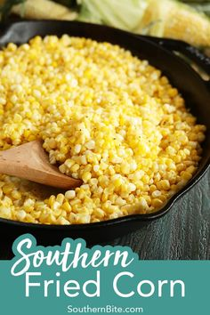 This Southern Fried Corn is my absolute favorite recipe when I'm using the fresh summer vegetable. It's the perfect side dish for nearly any warm weather menu.