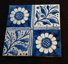 Victorian Tiles: Early Blue Longden, William Morris and Philip Webb Victorian Tiles, Blue Pottery, Pottery Art, William Morris, Azulejos Art Nouveau, Blue Tiles, Surface Pattern Design, Cool Designs, Mirrors