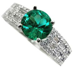 """Leave her speechles with a unique emerald engagement ring; express yoursef """"Genuine Love"""""""