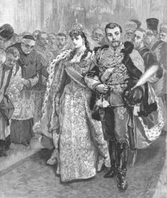 Illustration of the Wedding of Tsar Nicholas II & Alexandra of Hesse