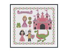 Pretty Princess Cross Stitch Pattern Instant by tinymodernist - for my little princess... :)