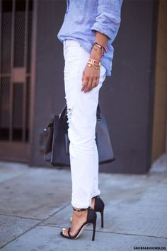 4e184f0d0f1 How To Make White Jeans Look Cool
