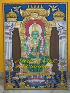 Tanjore Painting Kamakshi Devi Tanjore Painting Size - feet without frame This is the Tanjore painting (Kamakshi Devi) by. Tanjore Painting, Mother Goddess, Hindu Deities, Shiva, Pencil Drawings, Goddesses, Frame, Paintings, Picture Frame