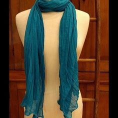 SOLD-Selling this Beautiful Turquoise Scarf in my Poshmark closet! My username is: virago. #shopmycloset #poshmark #fashion #shopping #style #forsale #Accessories