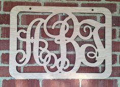 Wooden Monogram with Framed Border  SHIPS IN 35 by TRossCreations, $30.00