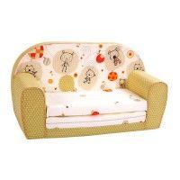 Sofá cama animalitos naranja y beige