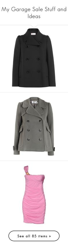 """""""My Garage Sale Stuff and Ideas"""" by jaystilo ❤ liked on Polyvore featuring outerwear, coats, black, double-breasted pea coat, pleated pea coat, red valentino coat, double breasted coat, red valentino, wool cashmere coat and pea jacket"""