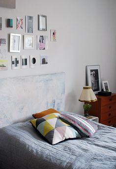 frameless above bed