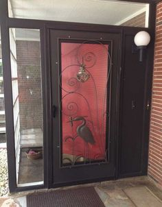 Incroyable 2 Manufacturers   18 Styles   Screen Door Inserts With Herons, Flamingos  And More
