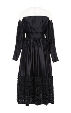 This **Alena Akhmadullina** dress is rendered in silk and features mink patchwork detailing.
