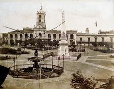 Cabildo y Casa de Justicia. Iluminación a gas, Plaza de la Victoria