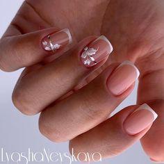 Elegant Nail Designs, French Nail Designs, Nail Swag, Gelish Nails, Nail Manicure, French Nails, Gorgeous Nails, Pretty Nails, Nail Polish Art