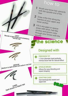 Brow Liner, September 2015 new product that works along side the Brow Gel.