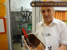 Chocolate gelato with apricots and brandy Gelato, Rome, Tours, Chocolate, Ice Cream, Chocolates, Brown, Rome Italy