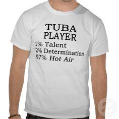 tuba t shirts | Tuba Player Hot Air T Shirts from Zazzle.com