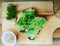 Smashed avo & rocket on kalamata olive sourdough with house made roast almond & cashew dukkah! Simple fresh & delicious. #thebircherbar #bircherbar #lismore #cafe #pantry #deli #coffee #sourdough #smashedavo #dukkah http://ift.tt/1cD4c3y
