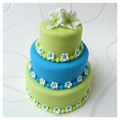 beautiful cake by Addy van den Bos (her first mini - so talented!)