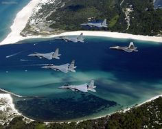 F15 Eagle in formation