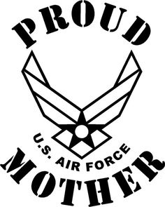10x10 inch decal proud mother US Air force DIY by IndianaPilot, $12.50