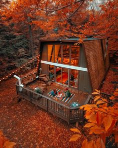 The Hunter Green House ~ Arch. Future House, My House, Cabin In The Woods, Autumn Scenery, Autumn Cozy, Autumn Fall, Autumn Photography, Fall Pictures, Vacation Trips