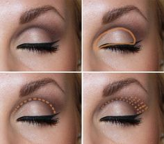 How to contour the eye.