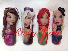 beauties sculpted on a nail 3d Acrylic Nails, 3d Nail Art, 3d Nails, Stiletto Nails, 3d Nail Designs, Flower Nail Designs, Crazy Nail Art, Crazy Nails, Beautiful Nail Designs