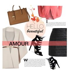 """""""Amour et de bonheur"""" by annabelle-477 ❤ liked on Polyvore featuring River Island, LE3NO and DKNY"""