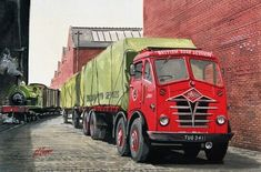 Cooperline: A portfolio of the transport art and photography of W. Cooper and the artwork of D. Ww2 Fighter Planes, Air Fighter, Nostalgic Pictures, Nostalgic Art, Classic Trucks, Classic Cars, Transport Pictures, Old Lorries, Mercedes Benz Trucks