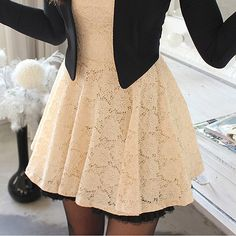 Laced Blazer Dress - $18.00 (x)