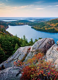 Bar Harbor, on top of Bubble Rock (one of them anyway). Colors are just starting to change. #maine