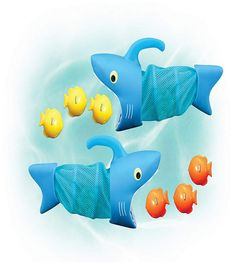 Melissa & Doug Sunny Patch Spark Shark Fish Hunt (Pool Game, 2 Nets, 6 Fish Sinkers to Catch, Great Gift for Girls and Boys - Best for and 8 Year Olds) Pool Toys For Kids, Games For Kids, Kids Toys, Fisher, Swimming Pool Games, Melissa & Doug, Water Toys, Gross Motor Skills, Colorful Fish