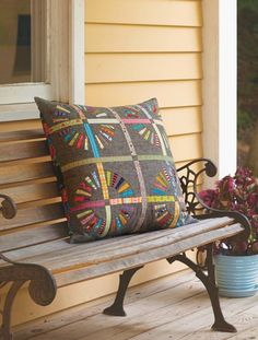 The Wheel of Fortune PIllow by Jen Kingwell