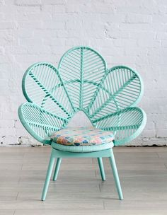 Mint peacock chair from The Family Love Tree