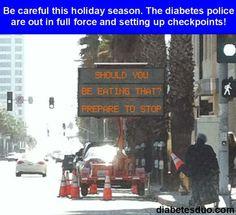 Diabetes Police Checkpoint