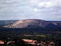 The Enchanted Rock in Fredricksburg, Texas.  Our family used to go there all the time to hike up the rock, and explore the surrounding areas.  Also to play in the river after a good hike.