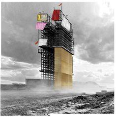 Beniamino Servino. Parade Tower ... RIDUZIONE A MACCHINA DA FESTA di uno scheletro di cemento armato che racconta storie. ADAPTATION TO A BAROQUE MACHINE of a reinforced concrete [stories telling] skeleton.