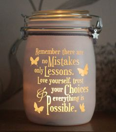 Personalised Glass candle memory Jar Remember by Jarofheartsgifts