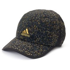 Women's Adidas Adizero II Spattered Baseball Hat, Black ($22) ❤ liked on Polyvore featuring accessories, hats, black, velcro hat, baseball hats, upf hats, adjustable hats and ball cap hats